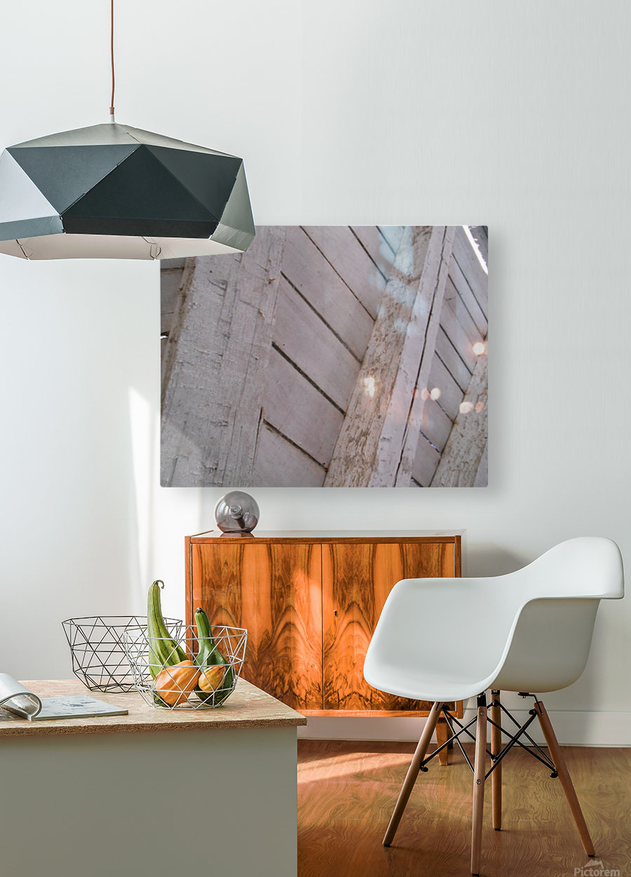 Wooden Beams  HD Metal print with Floating Frame on Back