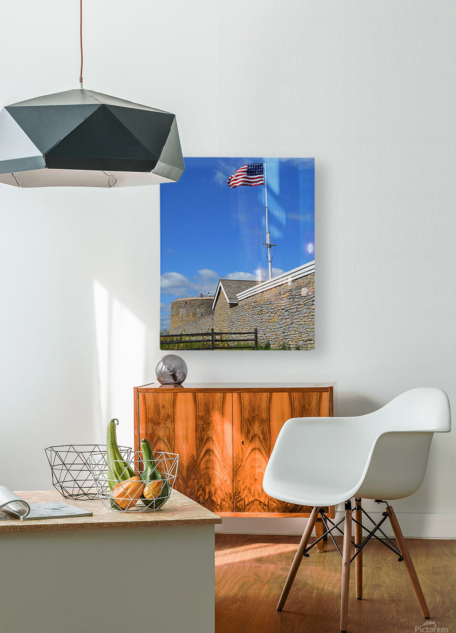Historic Fort Snelling  HD Metal print with Floating Frame on Back