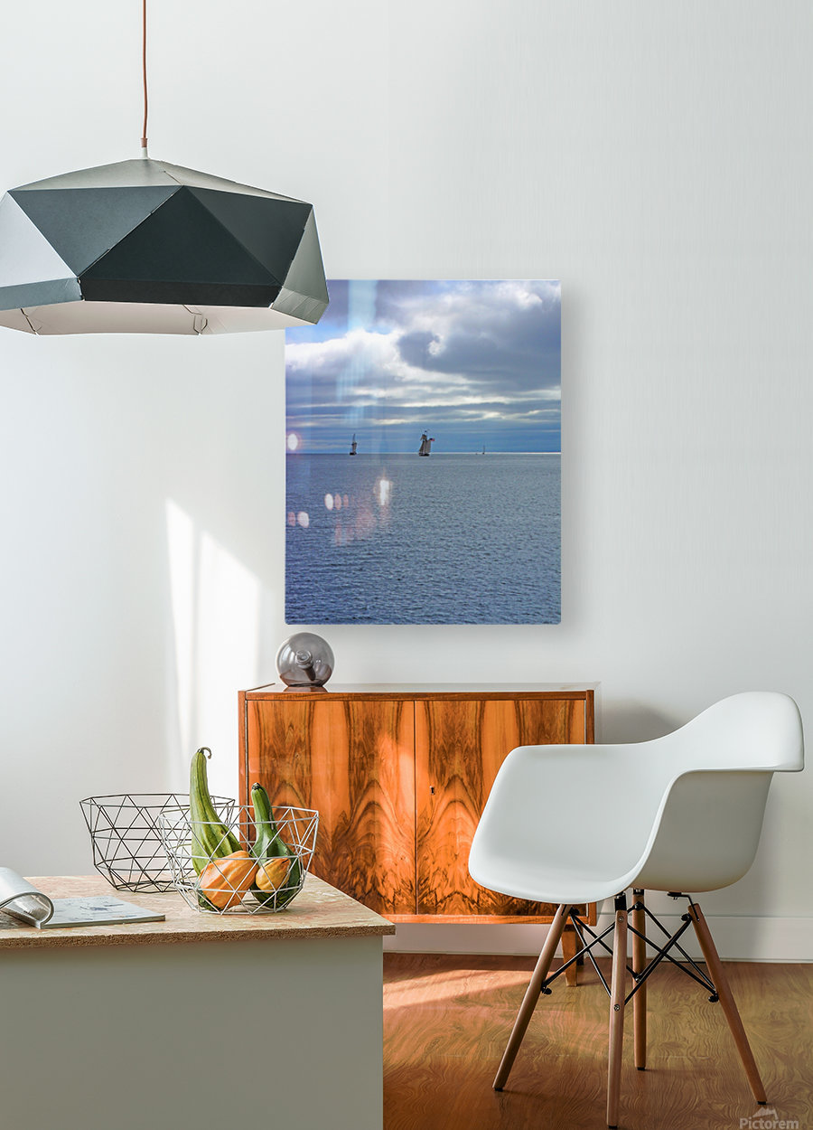 Tall Ships Vista  HD Metal print with Floating Frame on Back