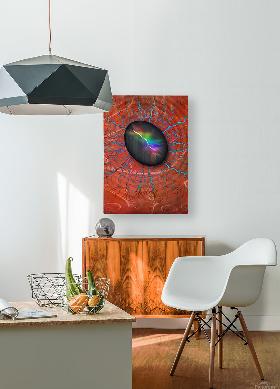 Rock of Power  HD Metal print with Floating Frame on Back