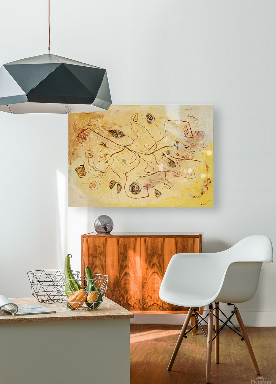 copper threads  HD Metal print with Floating Frame on Back