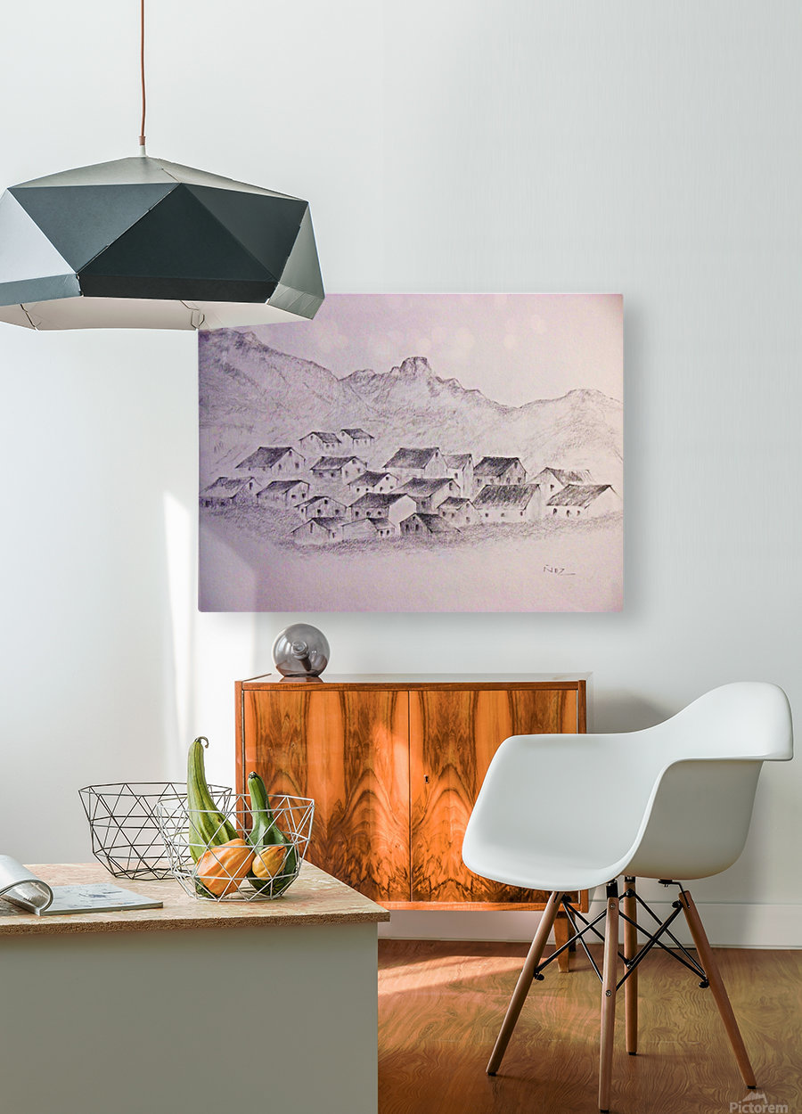 The Hills  HD Metal print with Floating Frame on Back
