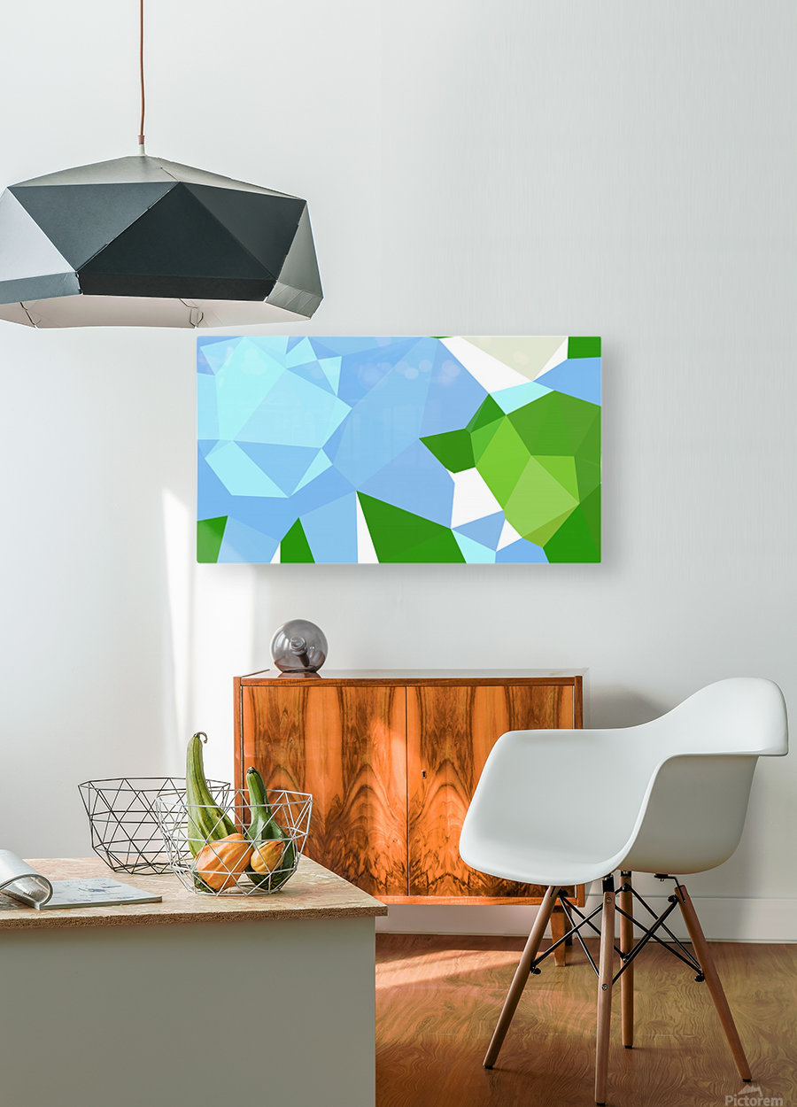 abstract geometric triangular art  HD Metal print with Floating Frame on Back