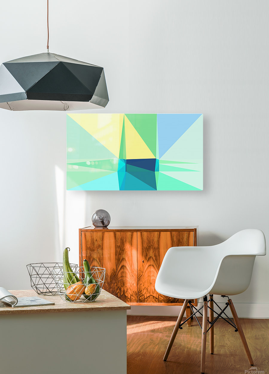 abstract colorful geometric shapes  HD Metal print with Floating Frame on Back