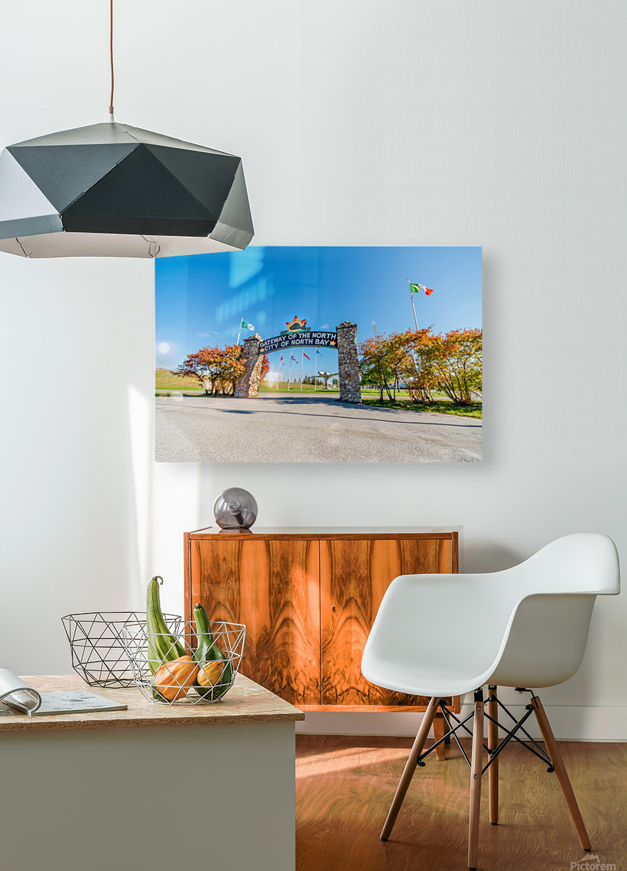Gateway to The North  HD Metal print with Floating Frame on Back