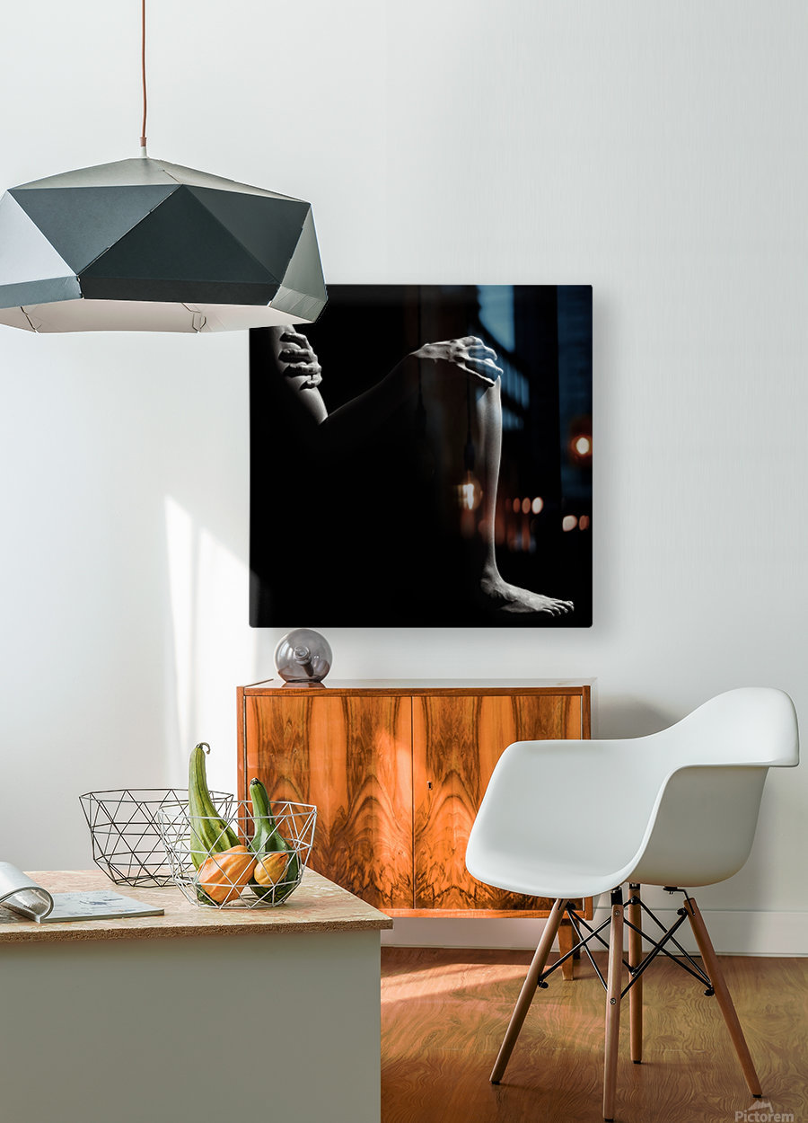 Nude woman fine art 6  HD Metal print with Floating Frame on Back