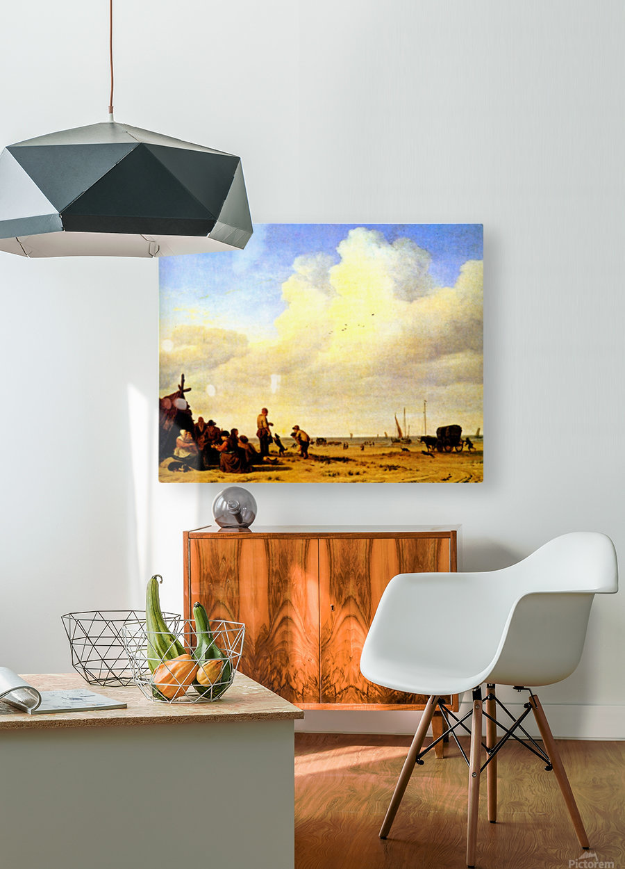 Beach Scene  HD Metal print with Floating Frame on Back