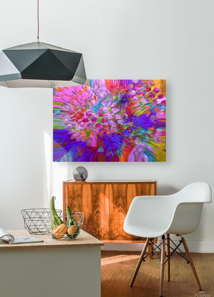 65  HD Metal print with Floating Frame on Back