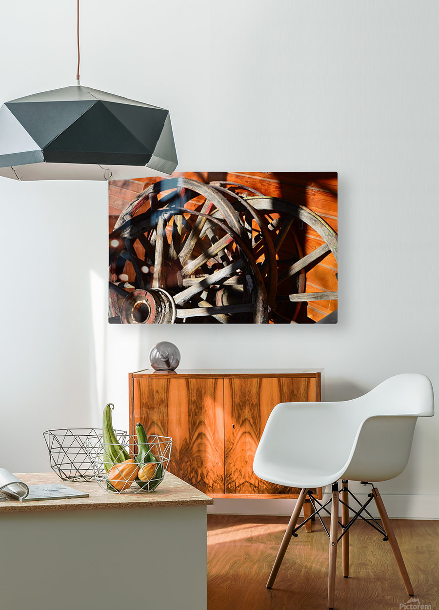 Wagon Wheels.05  HD Metal print with Floating Frame on Back
