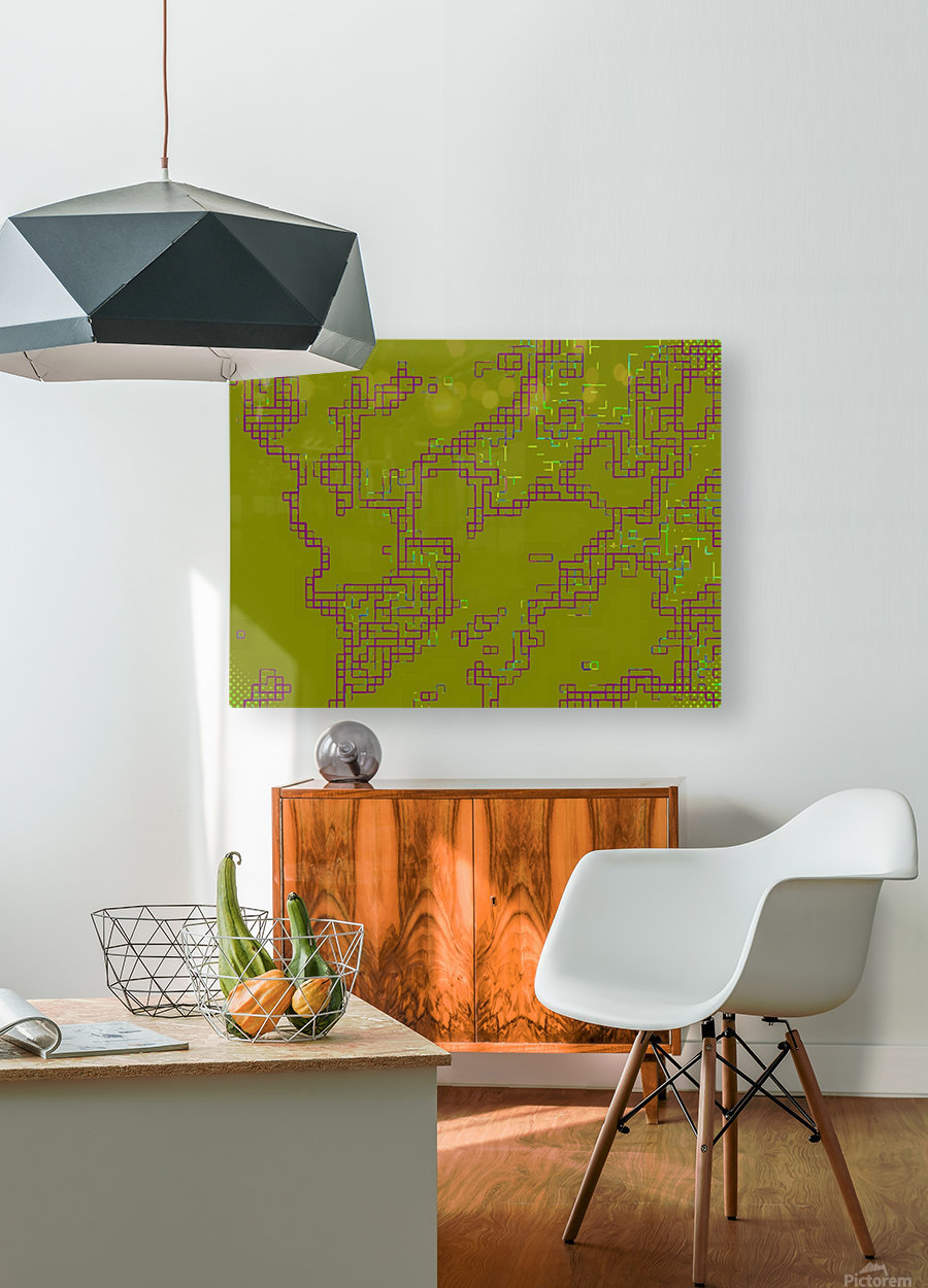 Abstract 5  HD Metal print with Floating Frame on Back