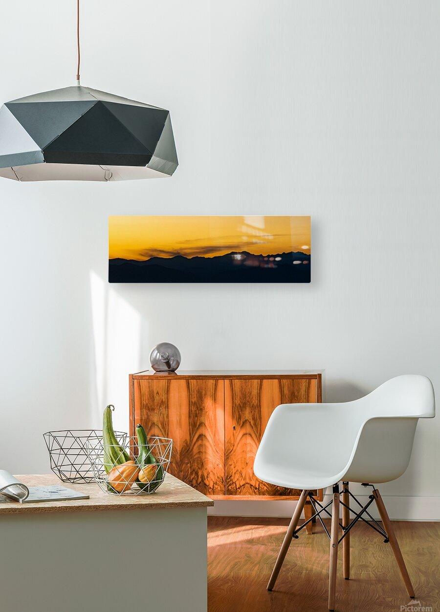Aurora Westward 1  HD Metal print with Floating Frame on Back