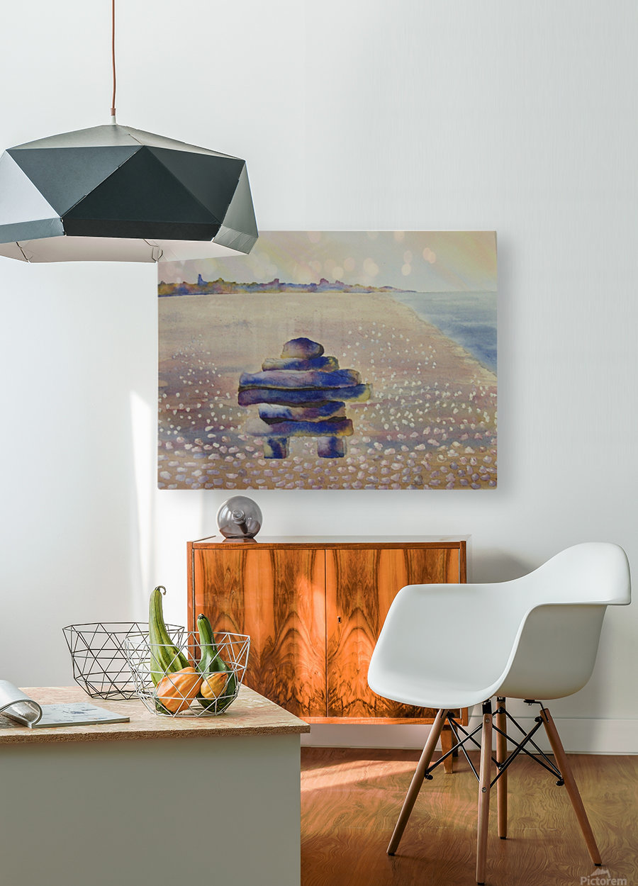 Inukshuk  HD Metal print with Floating Frame on Back
