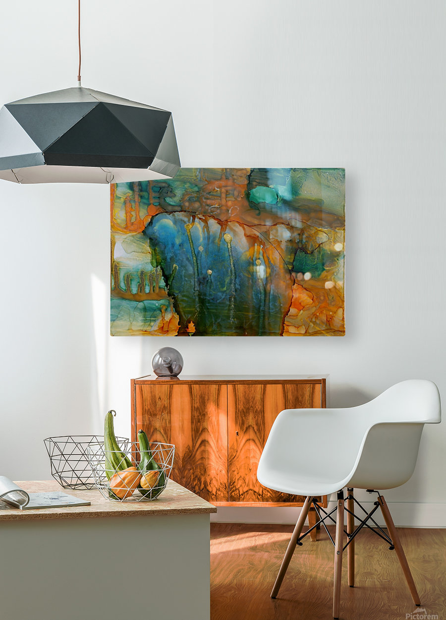 Elephant and Warrior  HD Metal print with Floating Frame on Back