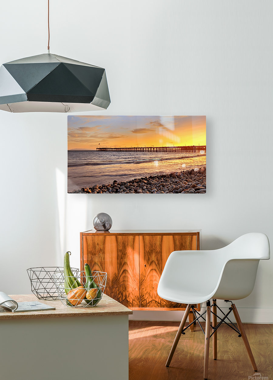 hot in california  HD Metal print with Floating Frame on Back