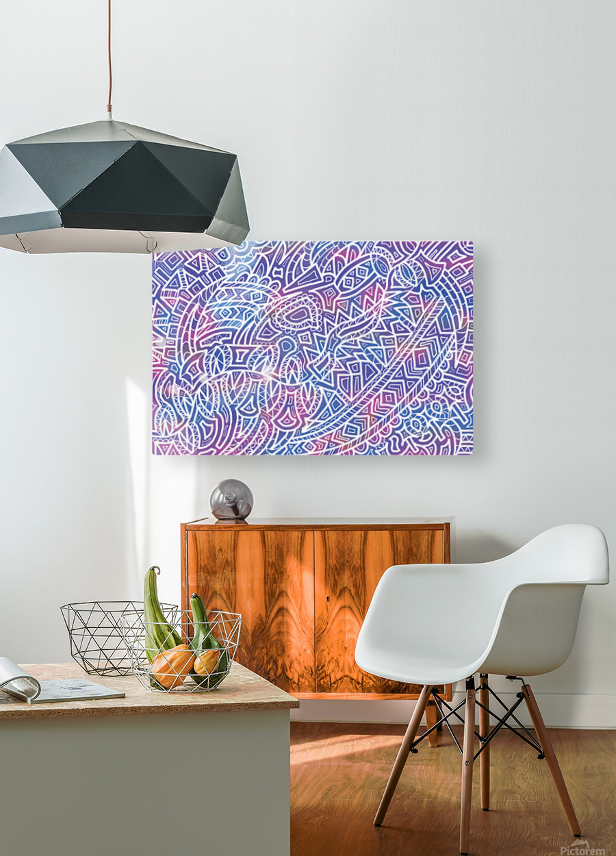 Iridescent Reverie  HD Metal print with Floating Frame on Back