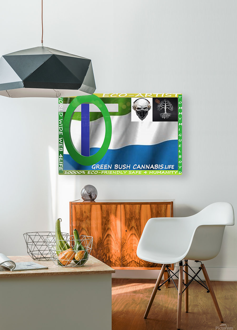 GREEN BUSH CANNABIS. LIFE  HD Metal print with Floating Frame on Back