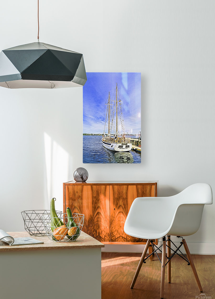 Mar Sailboat in Halifax  HD Metal print with Floating Frame on Back