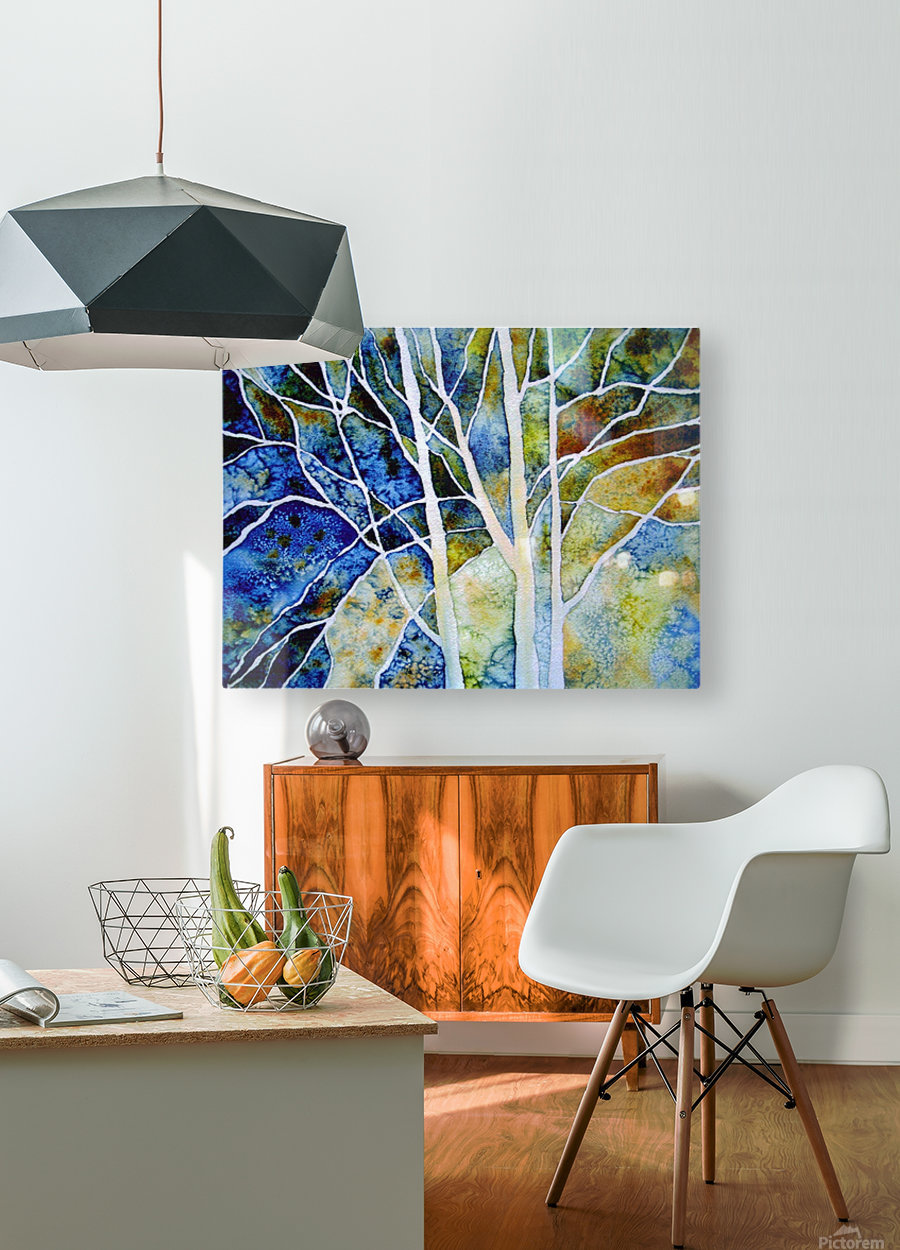Birches  HD Metal print with Floating Frame on Back