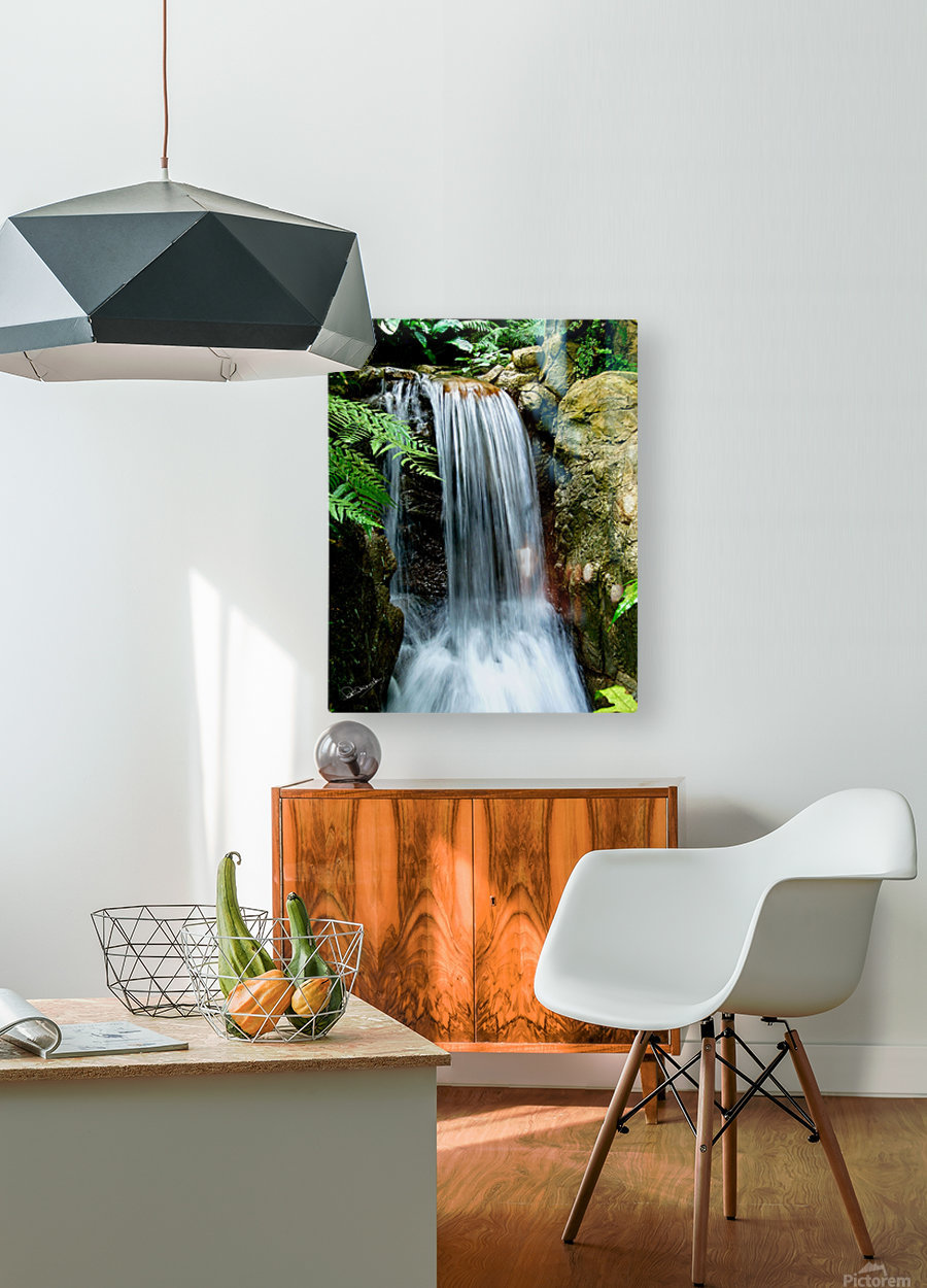 LIttle Hong Kong Park Waterfall  HD Metal print with Floating Frame on Back