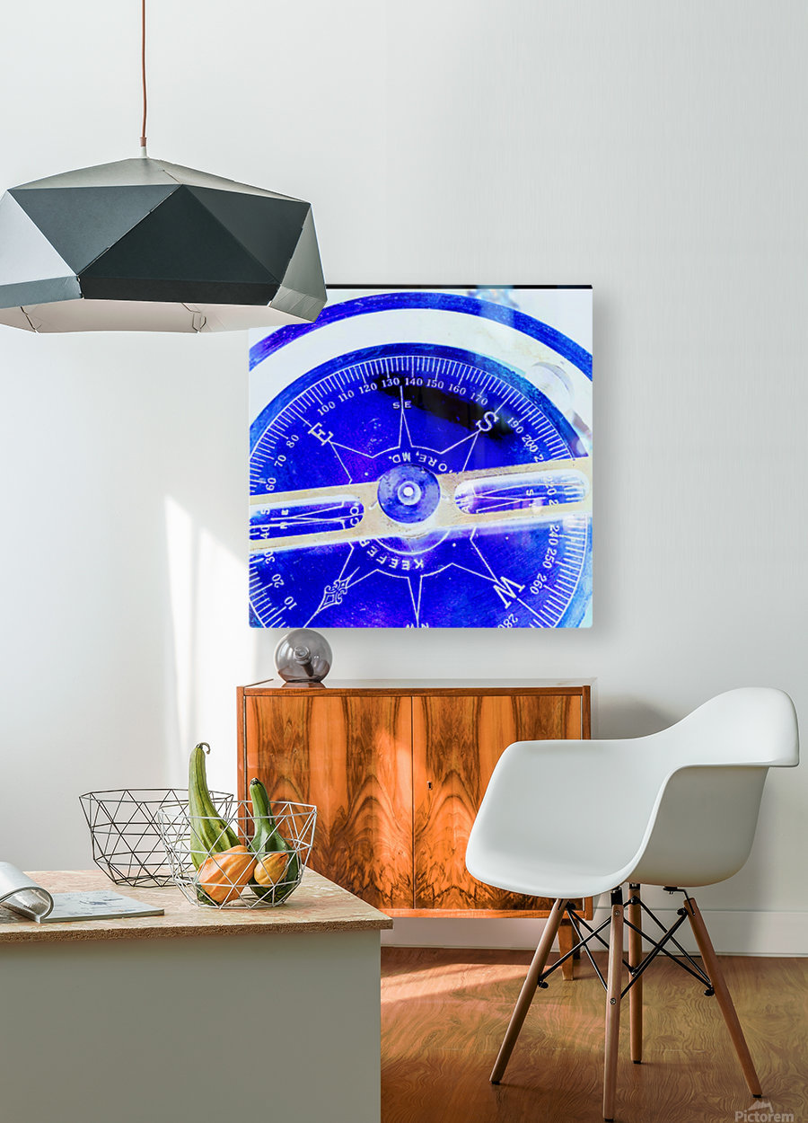 compass  HD Metal print with Floating Frame on Back