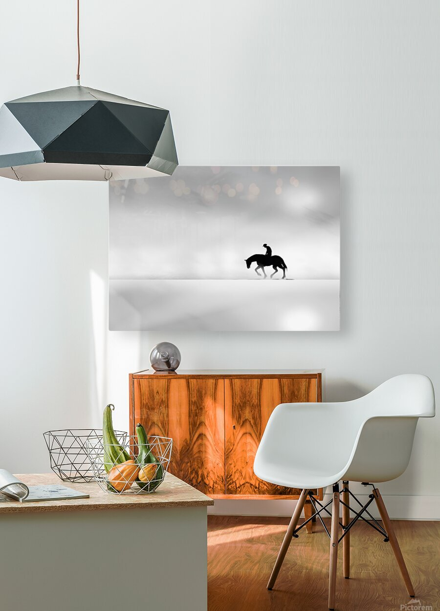 Cowboy  HD Metal print with Floating Frame on Back