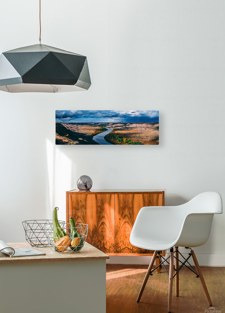 Orkney Fall 2018 Panorama 3x1  HD Metal print with Floating Frame on Back