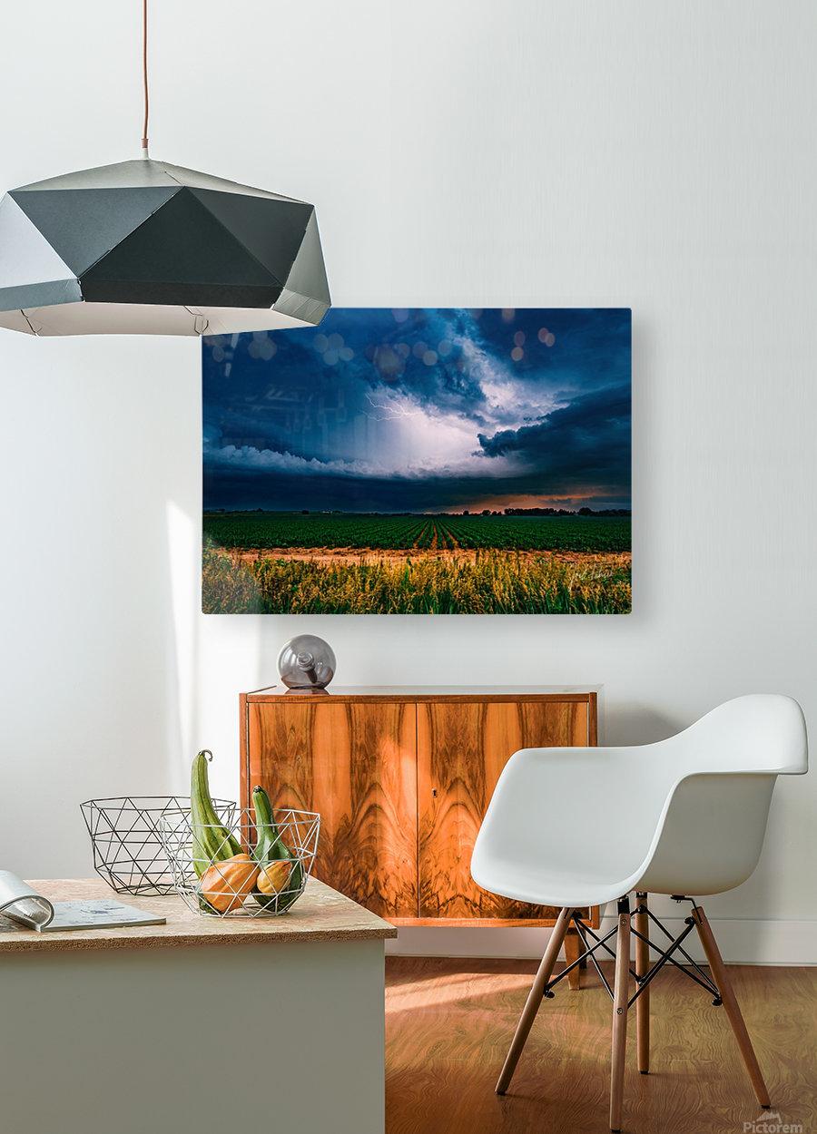 Prairie Lightning  HD Metal print with Floating Frame on Back