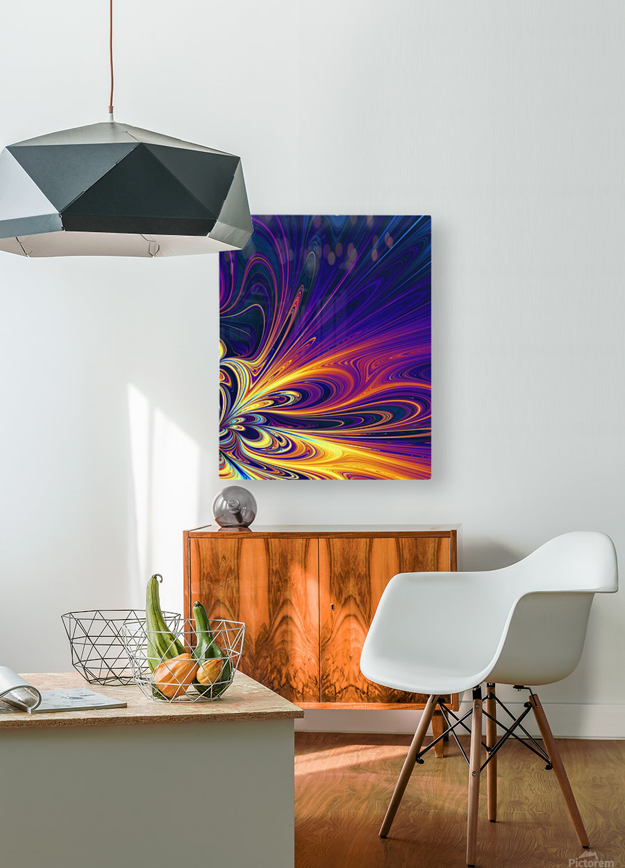 Abstract Composition 374  HD Metal print with Floating Frame on Back