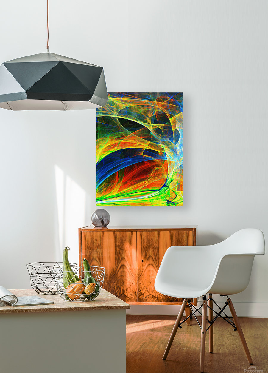 Abstract Composition 395  HD Metal print with Floating Frame on Back