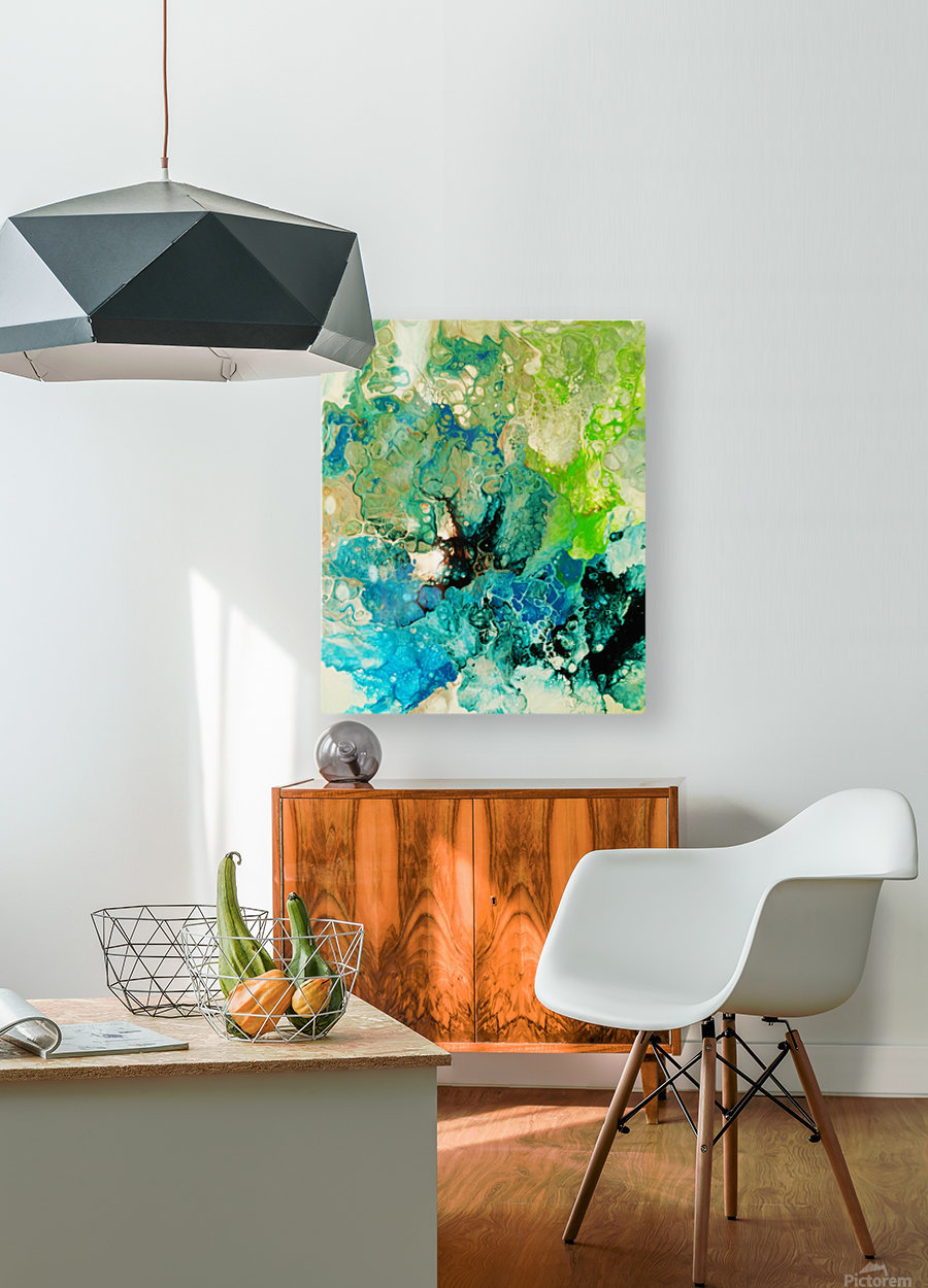 Abstract Composition 754  HD Metal print with Floating Frame on Back