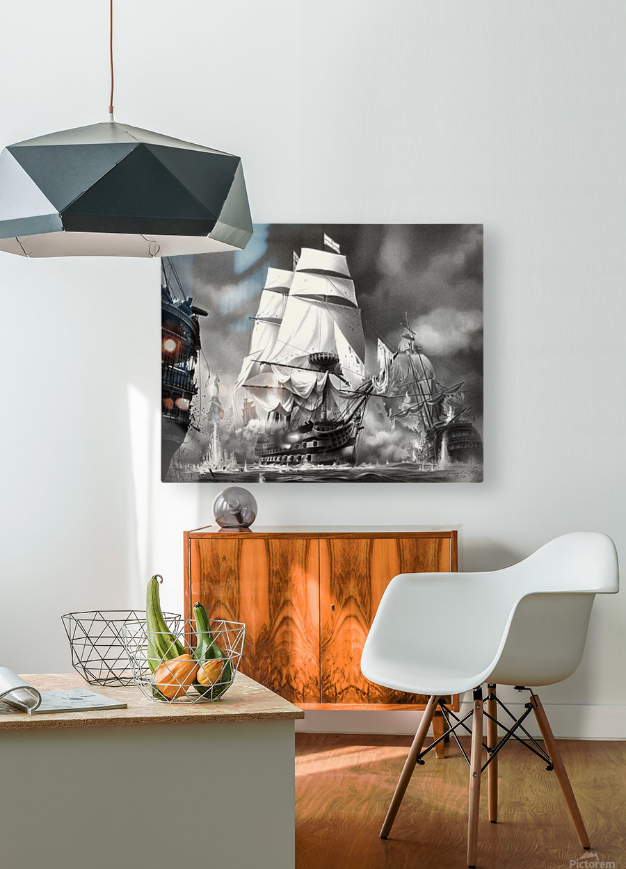 TRAFALGAR  HD Metal print with Floating Frame on Back