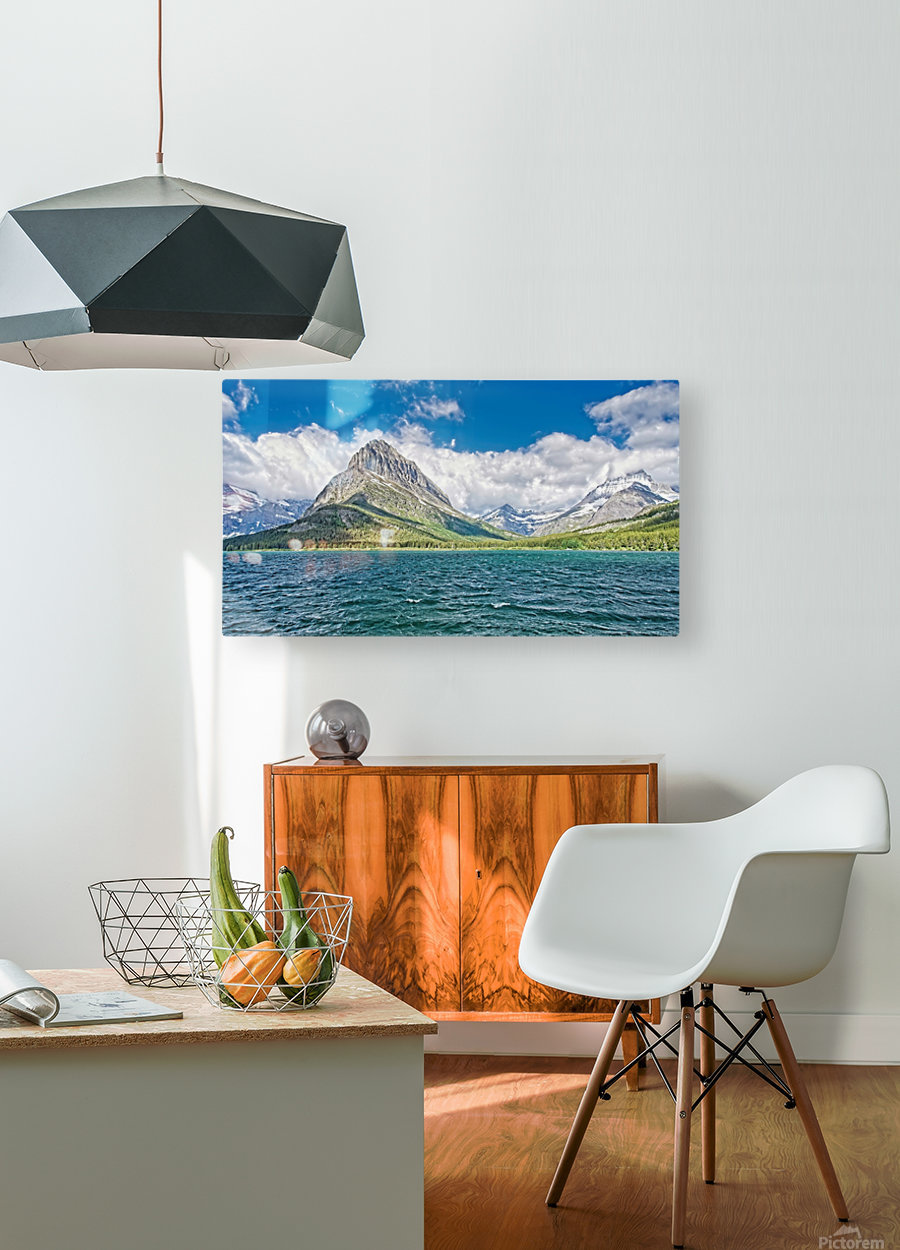 Mount Grinnell  HD Metal print with Floating Frame on Back