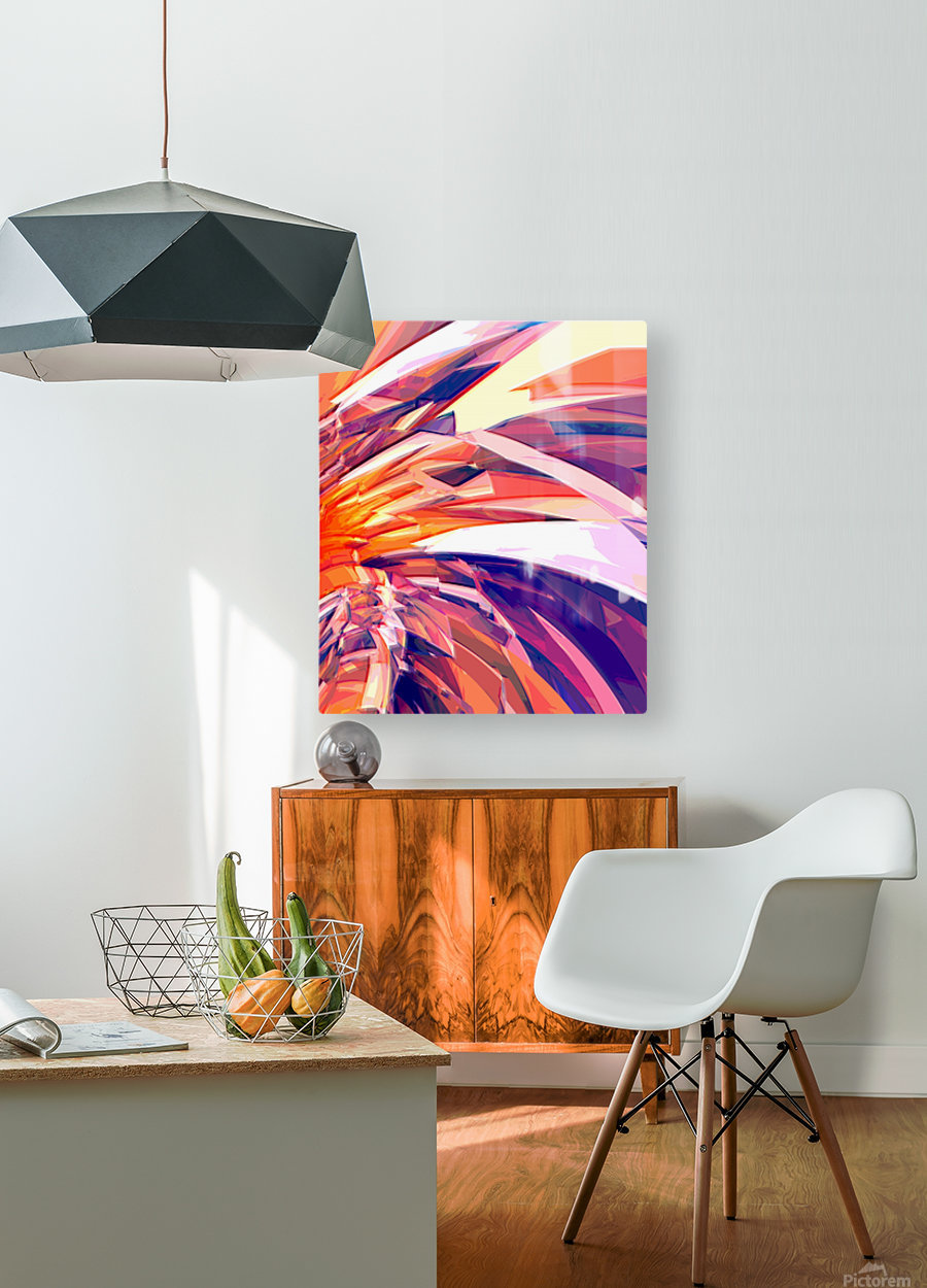 Abstract Composition 695  HD Metal print with Floating Frame on Back