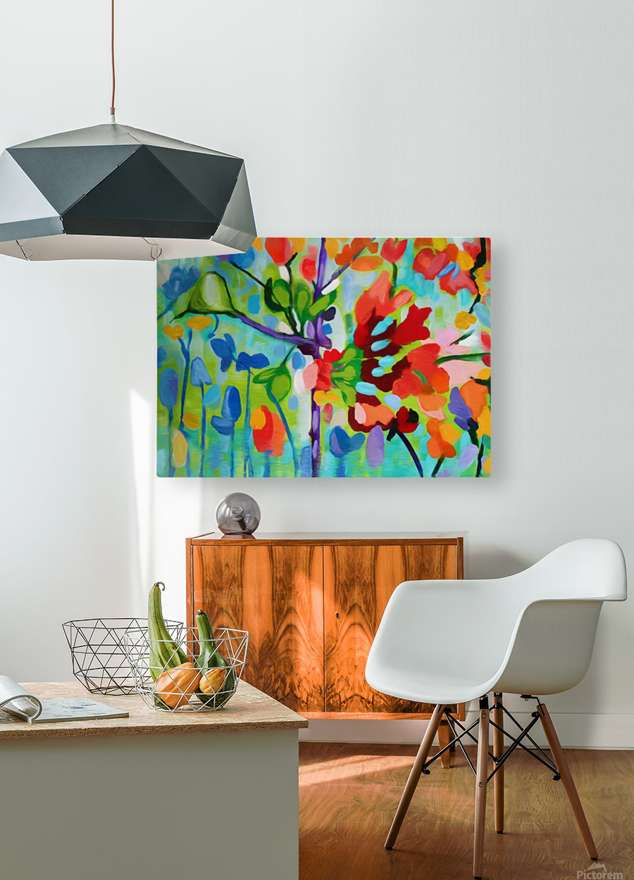 Floral 2  HD Metal print with Floating Frame on Back