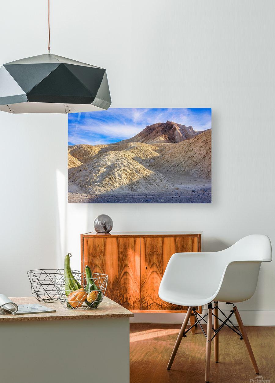 Badlands of Death Valley  HD Metal print with Floating Frame on Back