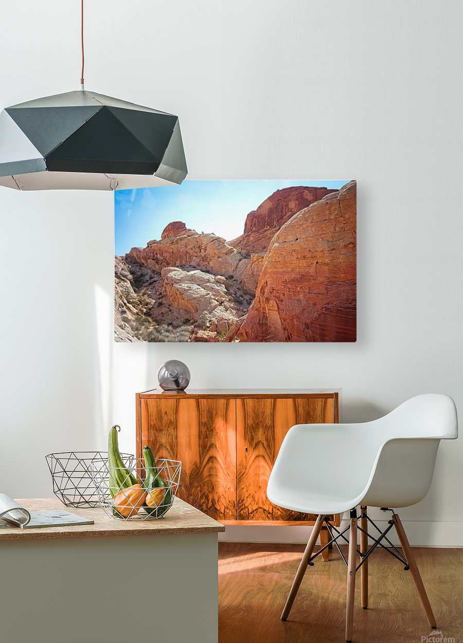 The White Domes View 2  HD Metal print with Floating Frame on Back