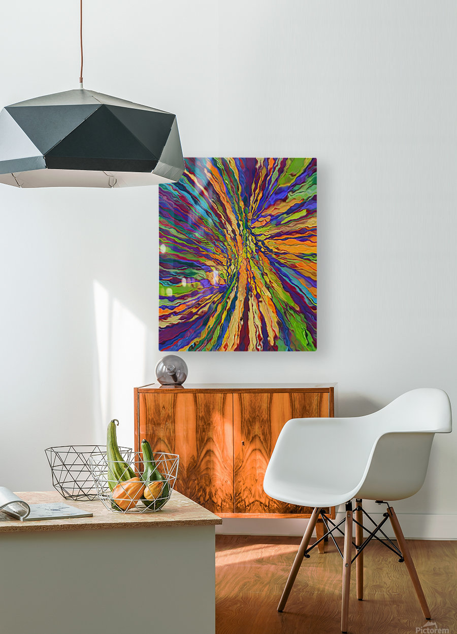 Abstract Composition 141  HD Metal print with Floating Frame on Back