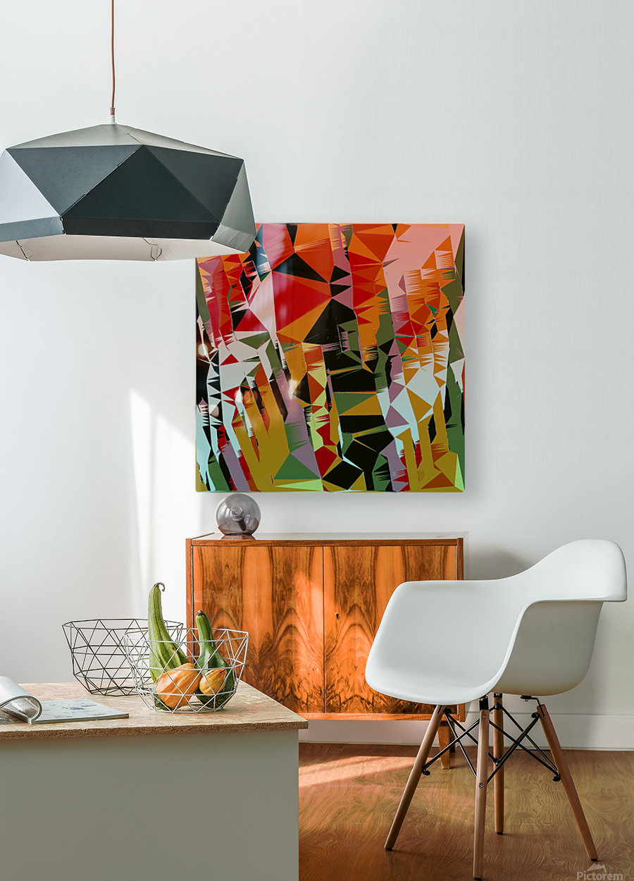 Abstract Composition 636  HD Metal print with Floating Frame on Back