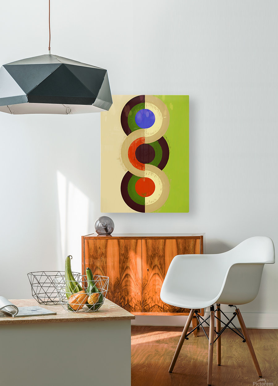 Abstract Composition 626  HD Metal print with Floating Frame on Back