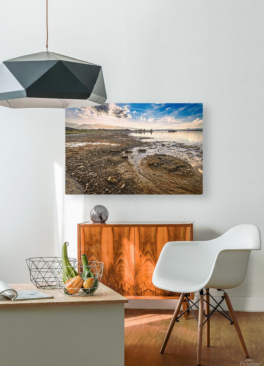 Mono Lake Shoreline  HD Metal print with Floating Frame on Back