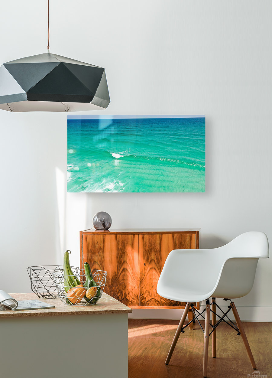 Clear Surf   HD Metal print with Floating Frame on Back