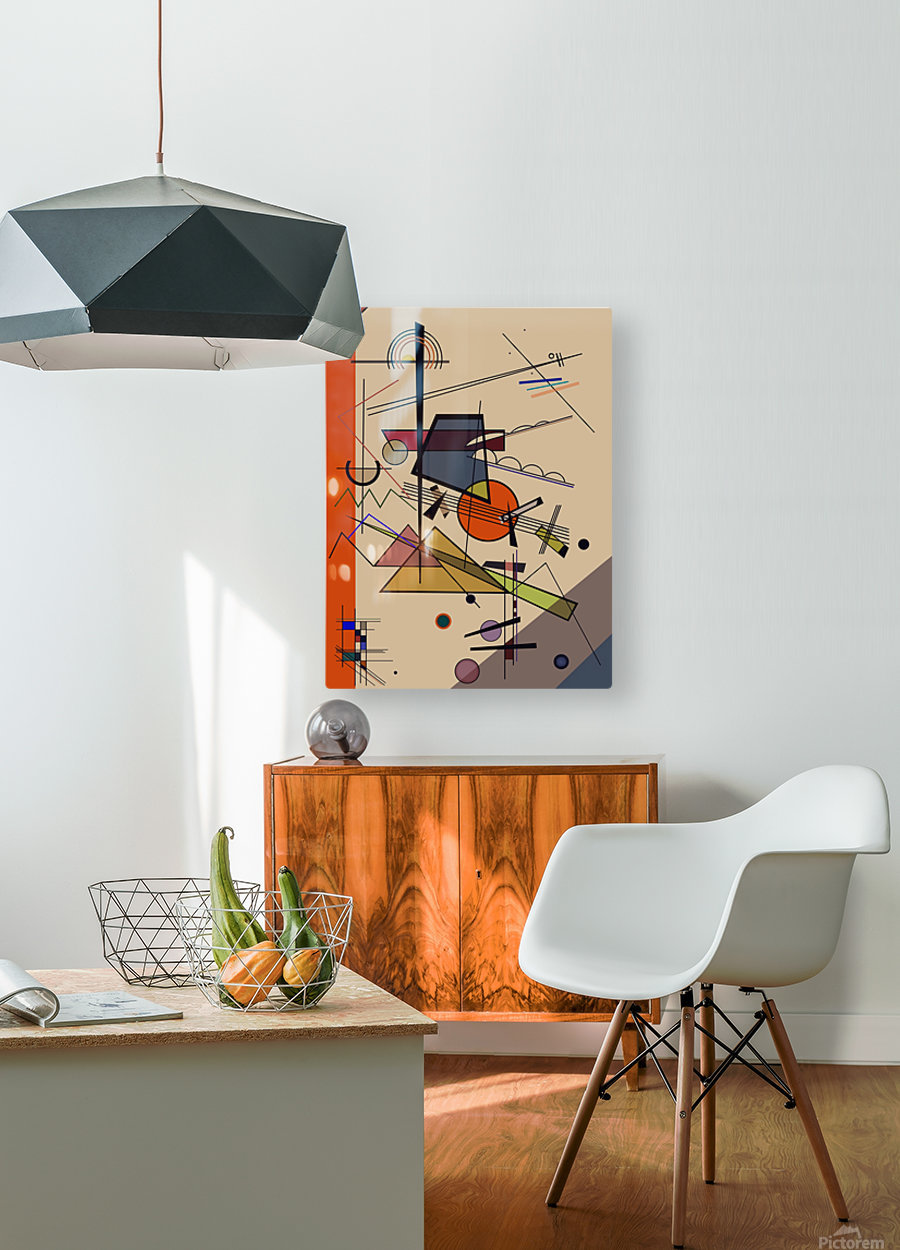 Abstract Composition 522  HD Metal print with Floating Frame on Back