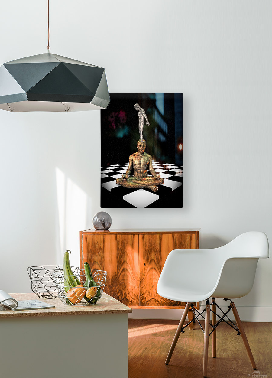 Cyborg Soul  HD Metal print with Floating Frame on Back