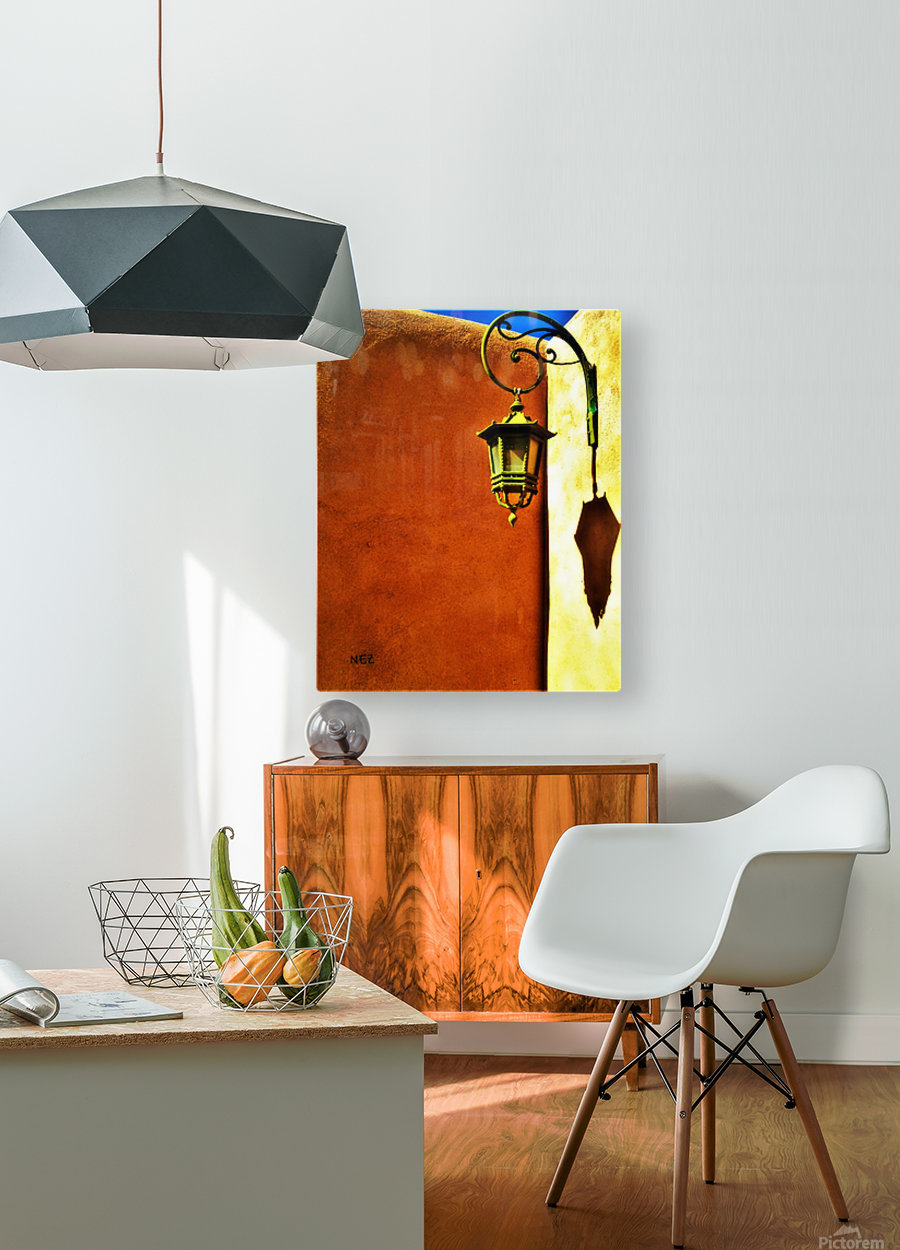Lantern Shadow  HD Metal print with Floating Frame on Back