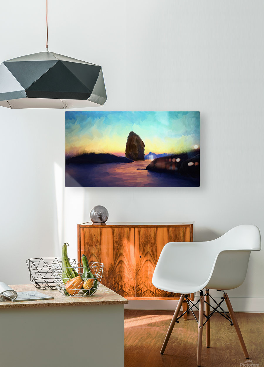Oniric River  HD Metal print with Floating Frame on Back