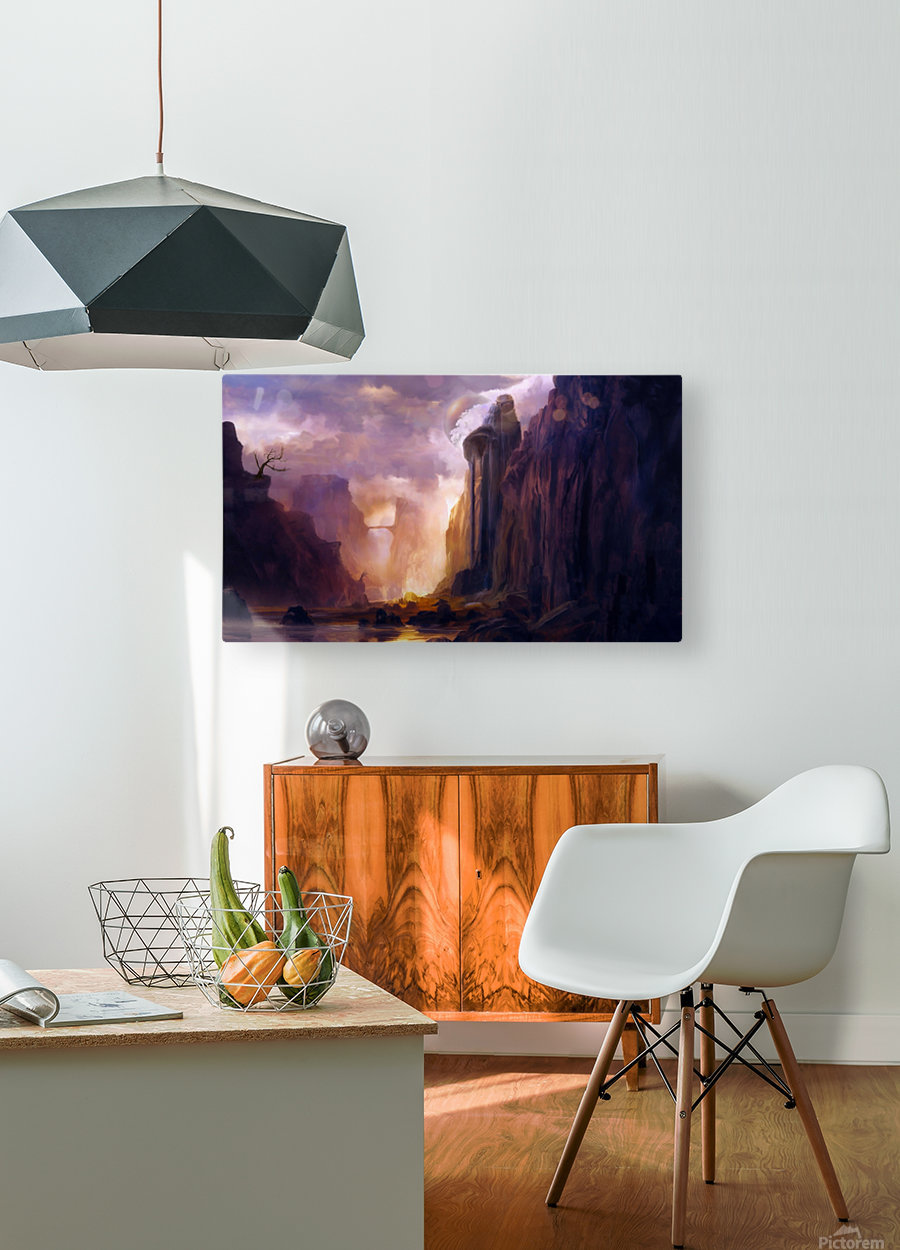 Rock Walls  HD Metal print with Floating Frame on Back