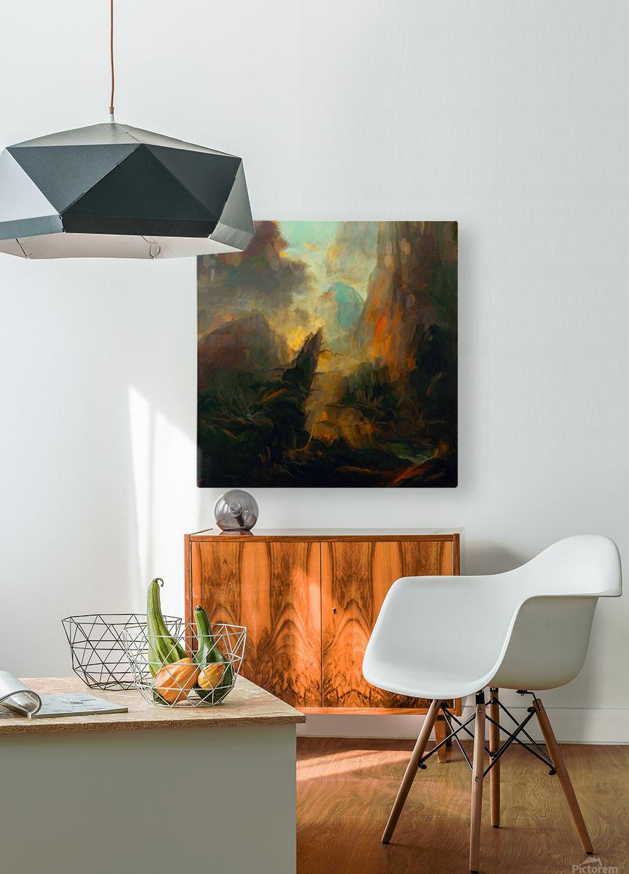 Fierce Landscape  HD Metal print with Floating Frame on Back