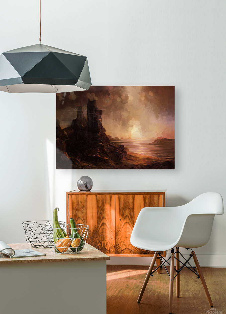 Lonesome Plains  HD Metal print with Floating Frame on Back