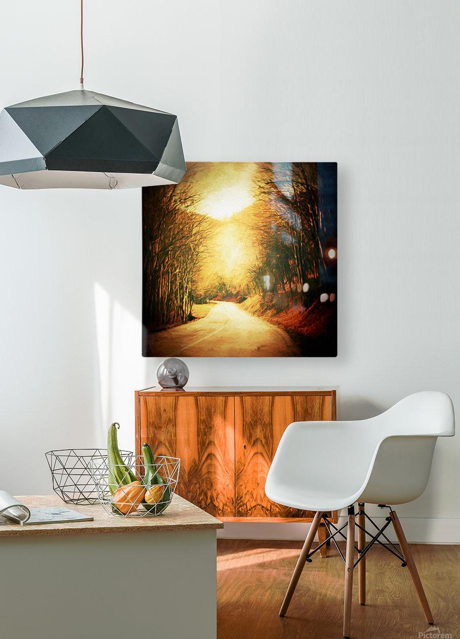 Autumnal Landscape 2  HD Metal print with Floating Frame on Back