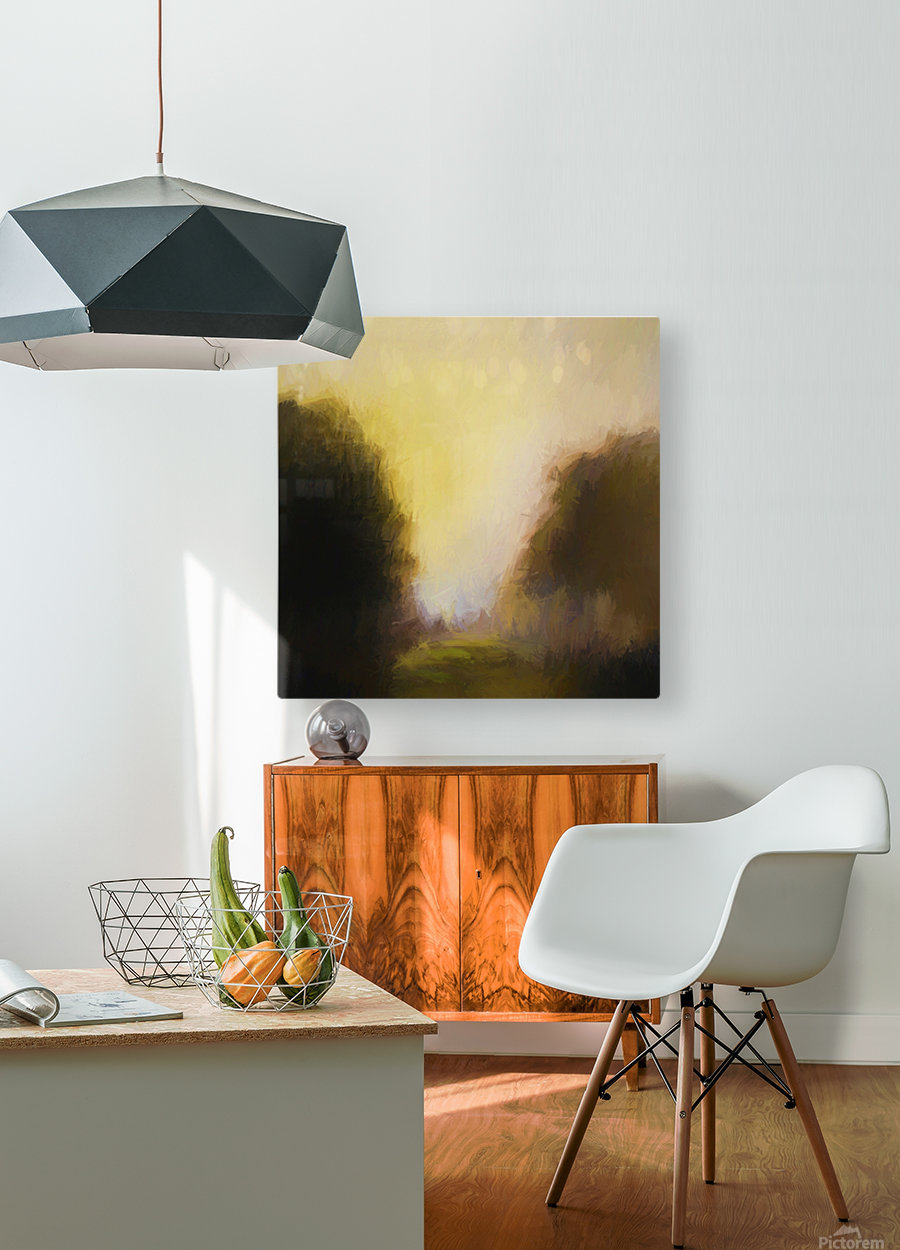 Impressionist landscape  HD Metal print with Floating Frame on Back
